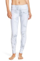 Alo Yoga Women's Alo 'Airbrushed' Glossy Leggings White Marble