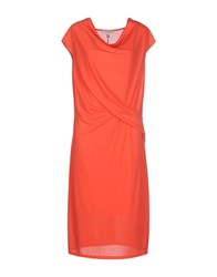 Renato Balestra Dresses Knee Length Dresses Women Coral