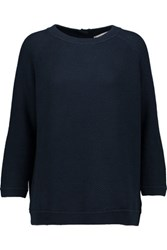 Goat Berlin Open Knit Cotton Sweater Midnight Blue