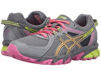 Asics Gel Sonoma 2 Aluminum Neon Lime Hot Pink Women's Running Shoes Gray