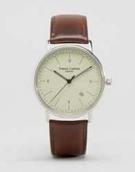 Simon Carter Brown Leather Watch Brown