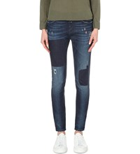 Closed Jaker Girlfriend Fit Skinny Mid Rise Jeans Patchwork