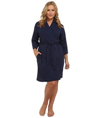 Jockey Cotton Essentials Plus Size Robe Midnight Navy Women's Robe Blue