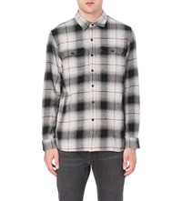 Levi's Check Print Regular Fit Cotton Shirt Lunar Rock Plaid