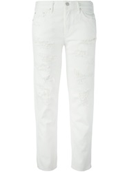 Mother 'The Loosey' Boyfriend Jeans White