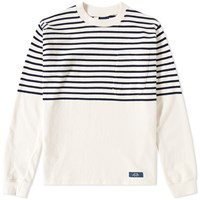 Bleu De Paname Long Sleeve Sailor Tee White