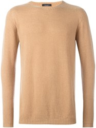 Roberto Collina Round Neck Pullover Nude And Neutrals