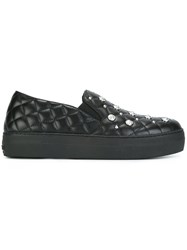 Versus Quilted Slip On Sneakers Black