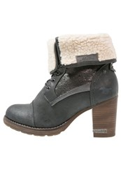 Mustang Laceup Boots Graphit Dark Grey