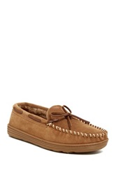 Dunham Lodge Faux Shearling Lined Moccasin Brown