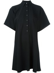 Maison Martin Margiela Mm6 Loose Shirt Dress Black