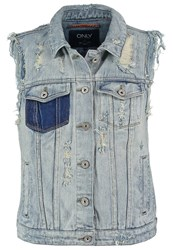 Only Onlchrista Waistcoat Medium Blue Denim
