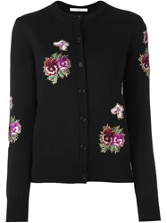 Givenchy Floral Embroidered Cardigan Black