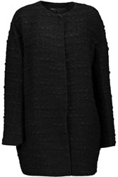 Giambattista Valli Wool Blend Boucle Tweed Jacket Black