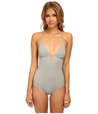 Eberjey So Solid Madison One Piece Seagull Women's Swimsuits One Piece Silver