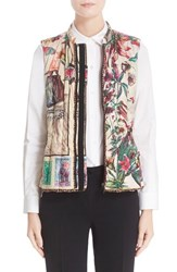 Etro Women's Animal Postcard Print Vest