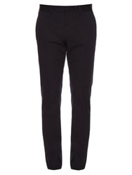 Gucci Slim Leg Cotton Blend Gabardine Chino Trousers Black