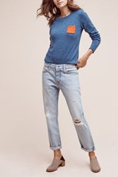 Anthropologie Levi's 501 Ct High Rise Straight Jeans Light Denim