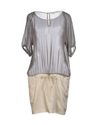 Tonello Short Dresses Grey