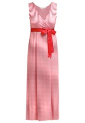 Gaudi Maxi Dress Hibiscus Whisper White Red
