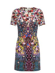 Mary Katrantzou Tildar Multi Print Silk Cady Dress Yellow Print