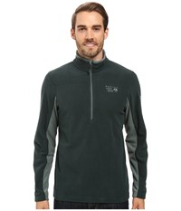Mountain Hardwear Microchill 2.0 Zip T Dark Forest Men's Long Sleeve Pullover Green