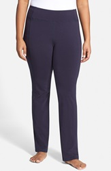 Eileen Fisher Stretch Jersey Yoga Pants Plus Size Midnight