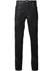 Hood By Air Waxed Five Pocket Trousers Black