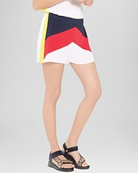 Sandro Shorts Purday Color Block Multi Color