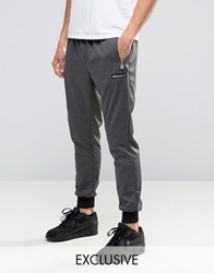 Ellesse Skinny Joggers With Gold Logo Grey