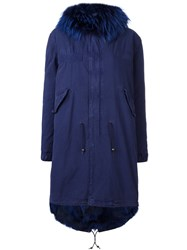 Mr And Mrs Italy Padded Parka Blue