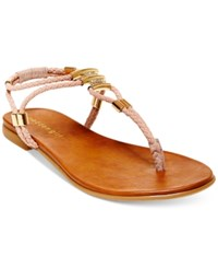 Madden Girl Madden Girl Flexii T Strap Flat Sandals Women's Shoes Blush