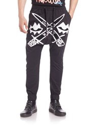 Haculla Swords Harem Pants Black