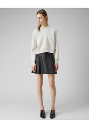 3.1 Phillip Lim Leather Flare Skirt Black