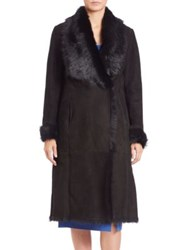 Lk Bennett Shearling Coat Black