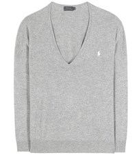 Polo Ralph Lauren Embroidered Wool Sweater Grey