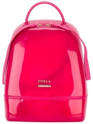 Furla Small 'Candy' Backpack Pink Purple