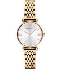 Emporio Armani Ar1877 Gold Plated Watch Silver