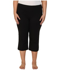 Jockey Active Plus Size Slim Capri Flare Black Women's Capri