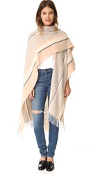 Club Monaco Leemissa Poncho Grey Stripe