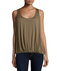 Halston Sleeveless Scoop Neck Top Fatigue