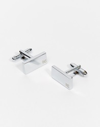 French Connection Square Cufflinks Silver