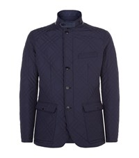 Pal Zileri Quilted Blazer Jacket Male Navy