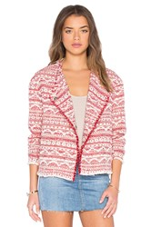 Hoss Intropia Printed Blazer Red
