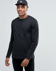 Solid Spacedye Knitted Jumper Black