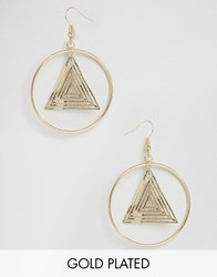 Ny Lon Nylon Gold Plated Hoop Drop Earrings Gold Plated