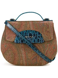 Etro Single Strap Small Tote Brown