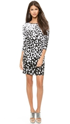 4.Collective Leopard Spot Shift Dress Ivory Multi