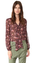 Ulla Johnson Mimi Blouse Plum