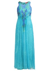 Derhy Ellipse Maxi Dress Bleu Blue